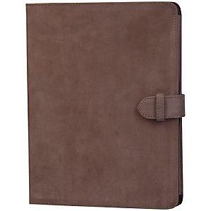 M: John Lewis Leather Book Case for iPad 2, 3rd generation iPad & iPad with Retina display, Grey