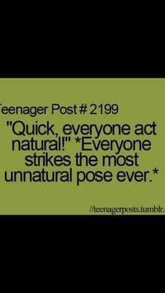 YES my friends suck at acting natural though, it's exactly like that episode of Henry Danger.