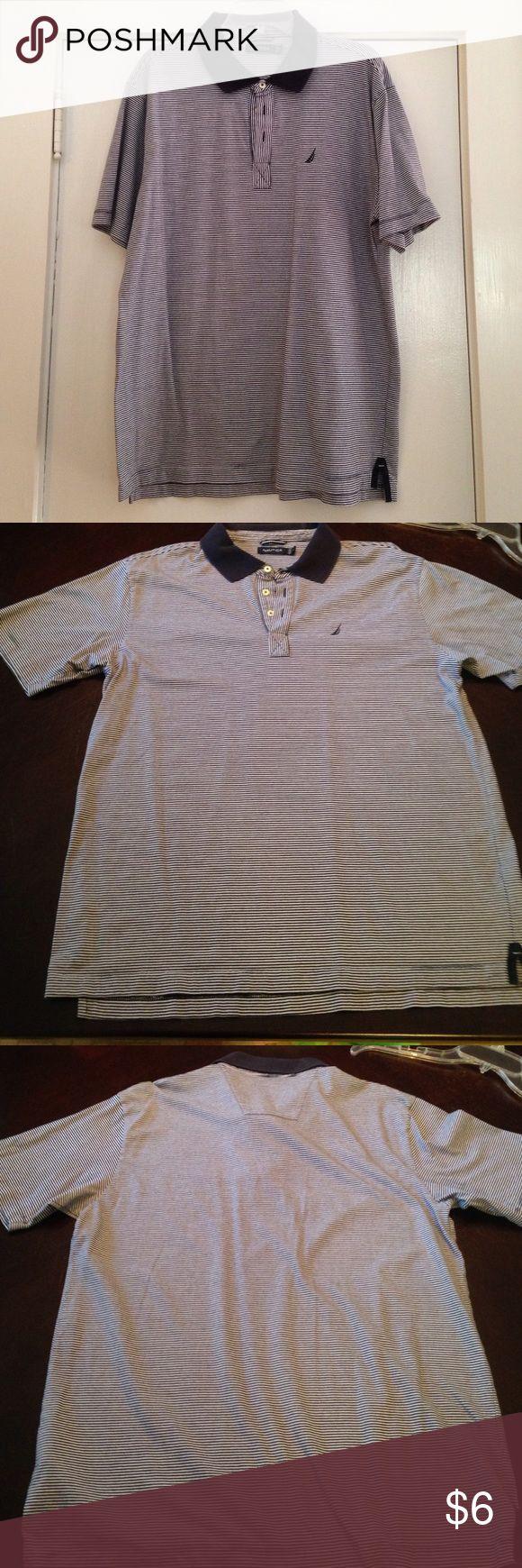 Polo shirt 100% cotton polo. Slight fading around top of collar Nautica Shirts Polos