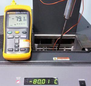 -80 °C Taratura Termometro Digitale + sonda