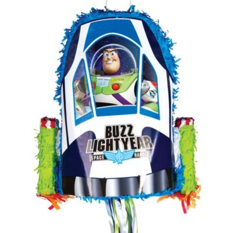 Pull String Buzz Lightyear Pinata 17 1/4in x 17 1/4 in x 3 1/4in - Party City