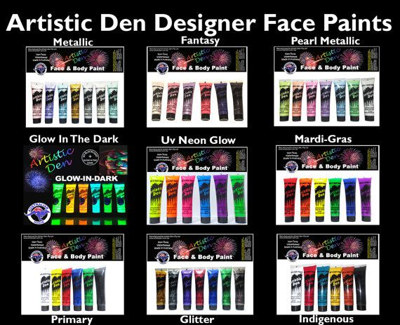 Face Paint Sets Face Paint Kits Uv Neon Glow Face by ArtisticDen
