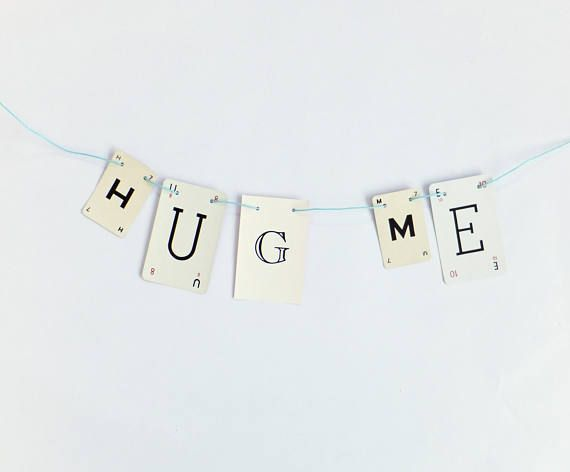 HUG ME Bunting Motivational Garland recycled banner