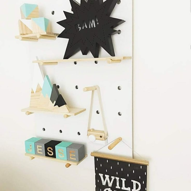 How beautifully colour coordinated is this shelf  ft our letter blocks in mint, grey, black.