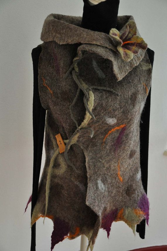 wonderful felted vest von feltforcat auf Etsy, $169.00