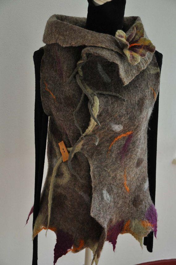 wonderful felted vest von feltforcat auf Etsy, $169.00