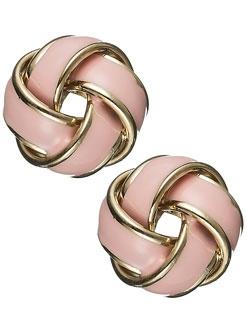 Knot Earrings.Pink Knots, Enamels Knots, Pink Earrings, Pale Pink, Studs Earrings, Knots Studs, Accessories, Knots Earrings, Gold Earrings