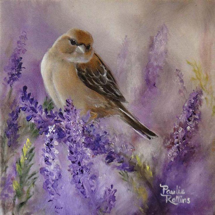 Misty Field Of Lavender by Pauline Rollins