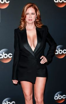 Jenna Fischer hot legs and cleavage by afkrony