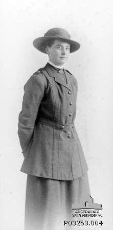 Studio portrait of Staff Nurse Dorothy Sevilla White, Australian Army Nursing Service (AANS), wearing her Army Nursing uniform. She served i...
