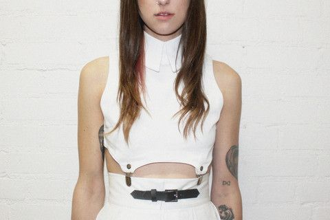 deandri - Zeta Collar Suspender Top White