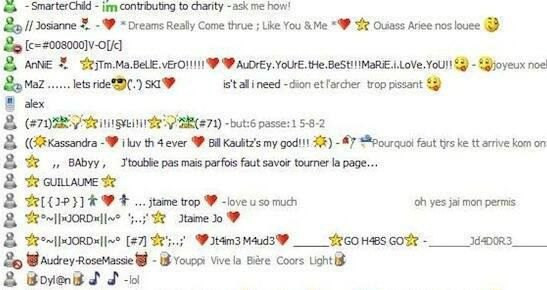 Making really cool MSN names with ~funky~ characters.   28 Australian Things We Loved In 2005 But Definitely Don't Now