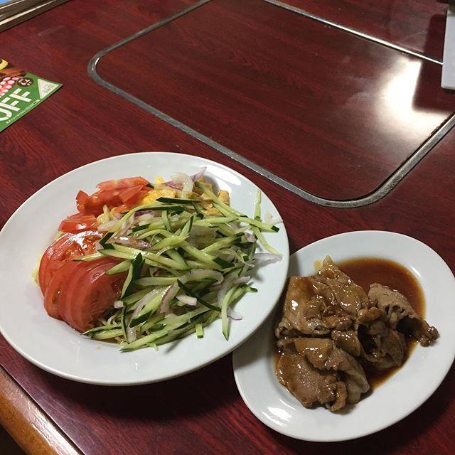 #今日の晩御飯  #おばあちゃん  #冷やし中華  #肉
