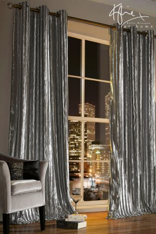 Buy Kylie Iliana Silver Curtains from the Next UK online shop