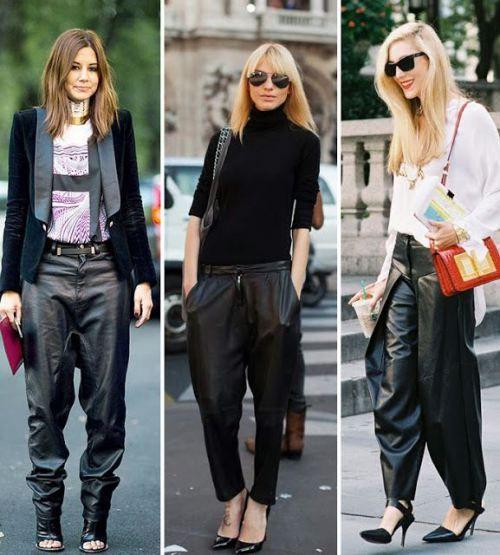 Sokak Stilleri: Bol Deri Pantolon Kombini | Moda Trend Stil