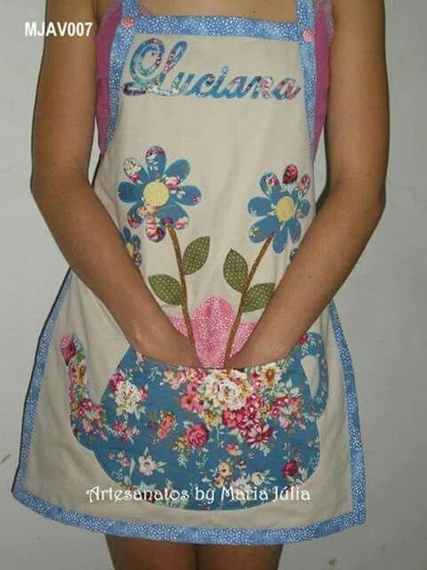 Avental flores