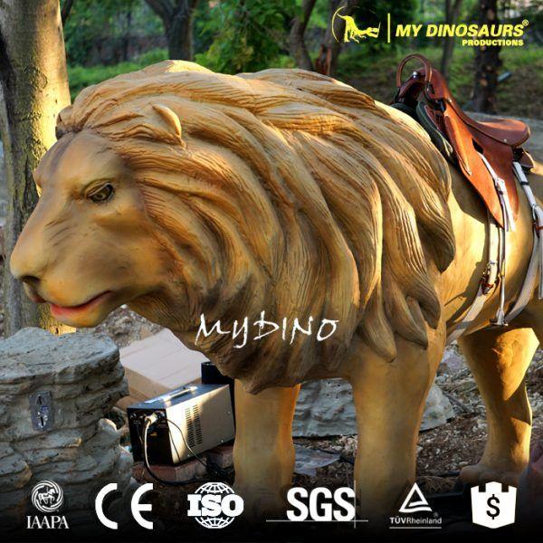 WDR-081 Children Playground Equipment Amusement Mechanical Lion Ride