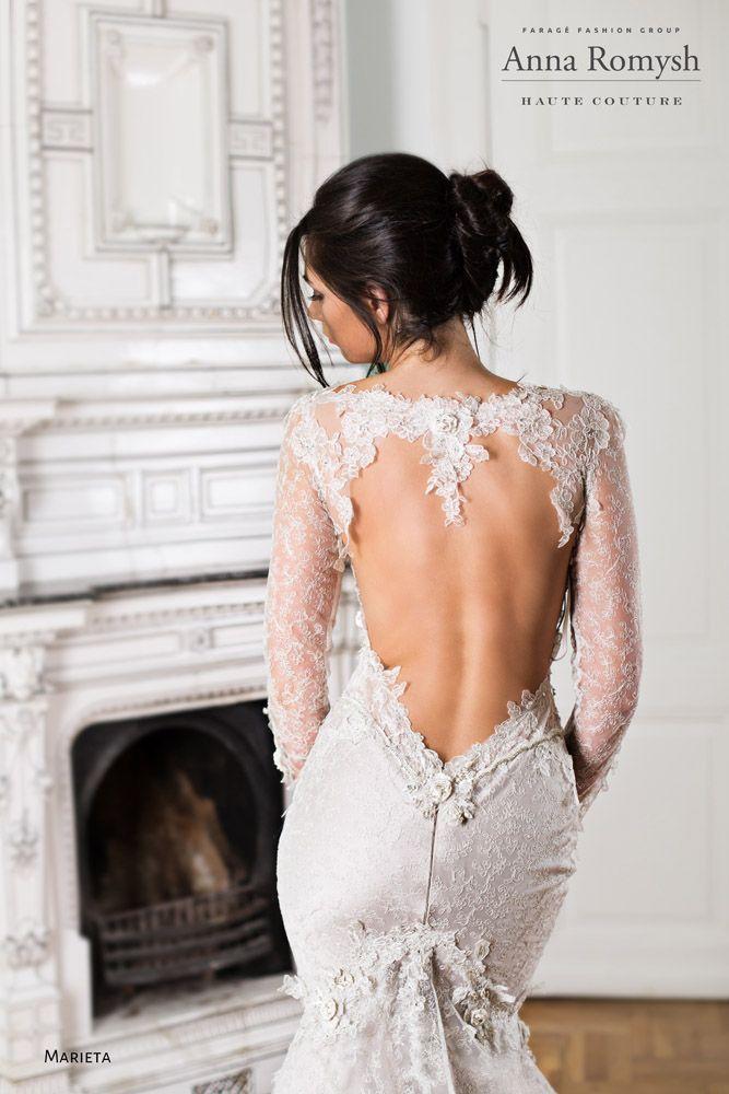 Anna Romysh Haute Couture – Marieta dress #AnnaRomyshHauteCouture #hautecouture #backdress #bride #train #lace #lacedress #wedding #weddingdress #PannaMłoda #suknieślubne #ślub