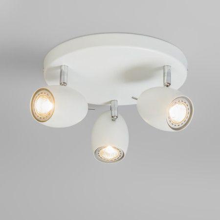 Spot Egg 3 okrągły biały #stylskandynawski #nowoczesnelampy #lampyindustrialne