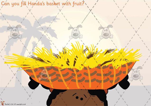 Teacher's Pet - Handa's Surprise Playdough Mats -