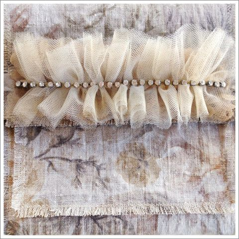 DIY Ruffled Tulle Band | A Gilded Life
