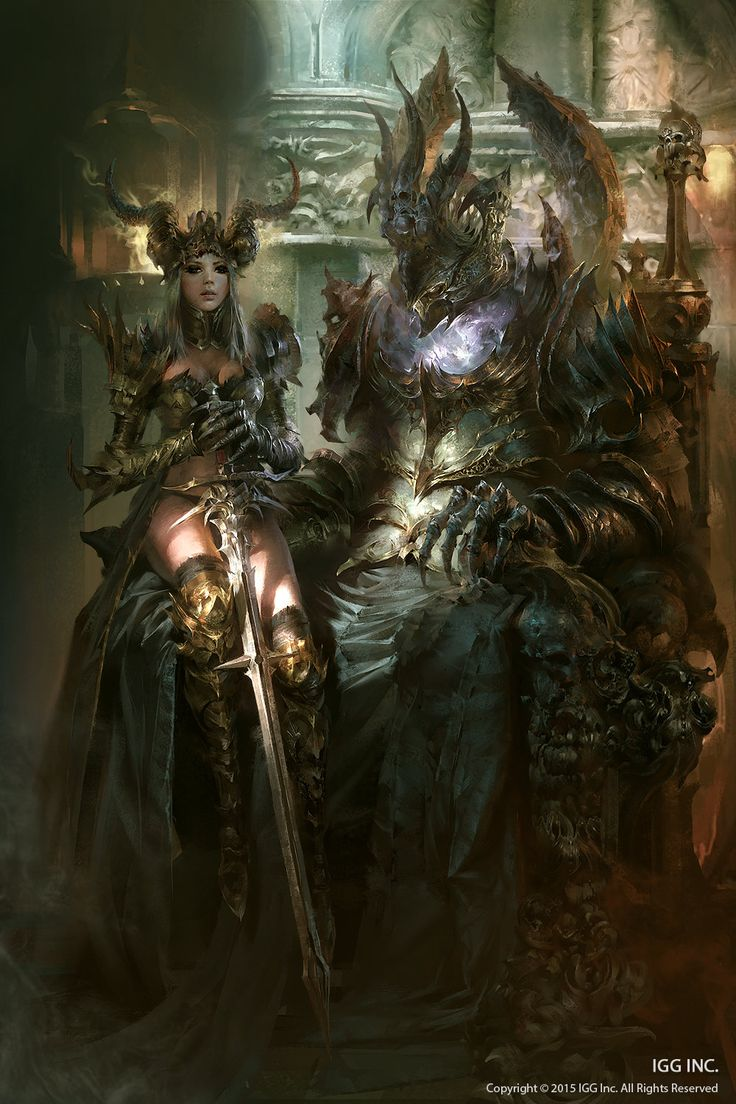 Dark Knight & Lord of Darkness - poster by Marat Ars for the IGG Inc. game Brave Quest