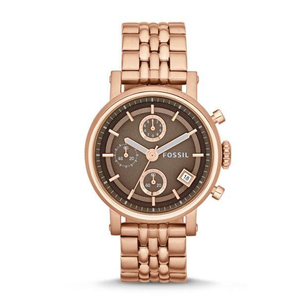 Original Boyfriend Chronograph Rose-Tone Stainless Steel Watch