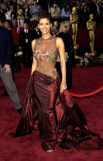 Halle Berry's 2009 Elie Saab Academy Award gown; shows a little too much skin for me, but it was gorgeous
