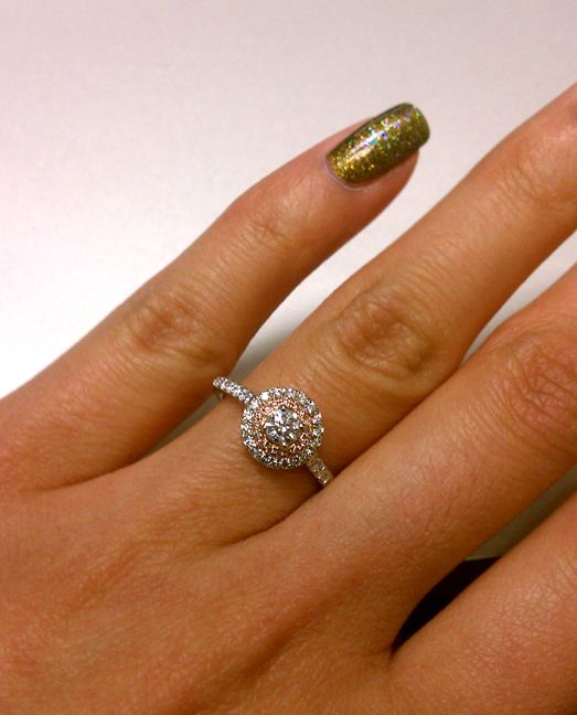 Tiffany Soleste Engagement Ring With Pink Diamonds And