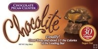 Chocolite: 30-40 calories for each piece and 0-1 net carbs. Available in a ton of flavors like caramel pretzel, peanut butter cup and cookies and cream. (1 Weight Watcher point per package). OBSESSED. Will change your life