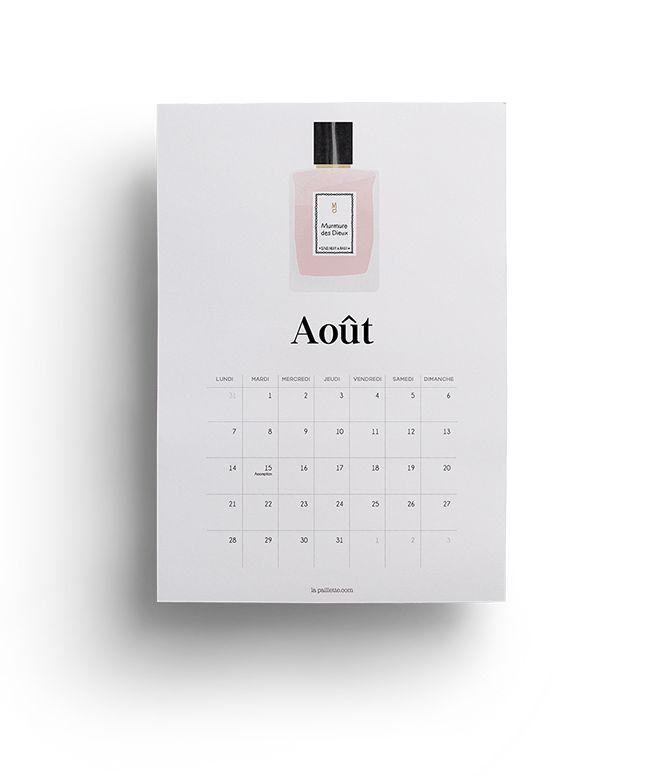 La Paillette - Blog Rennes - Claire Calendrier Août 2017 parfum à imprimer free august calendar