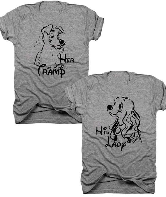 2-Pack Her tramp his lady t-shirt set  B016