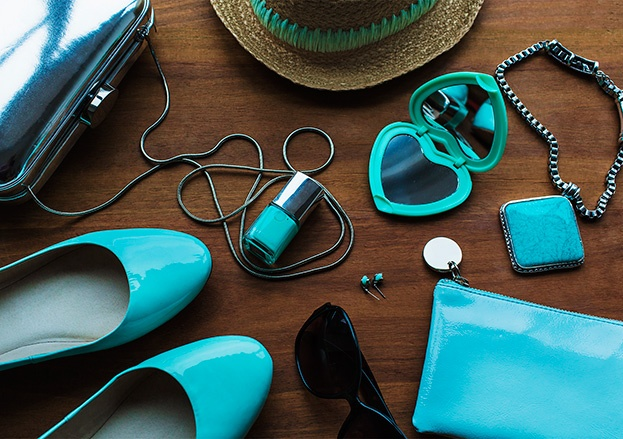 AQUA ACCESSORIES    We're mad about marine accessories this season. What better way to add a fresh touch to your look for a daytime Christmas party in the December sun?