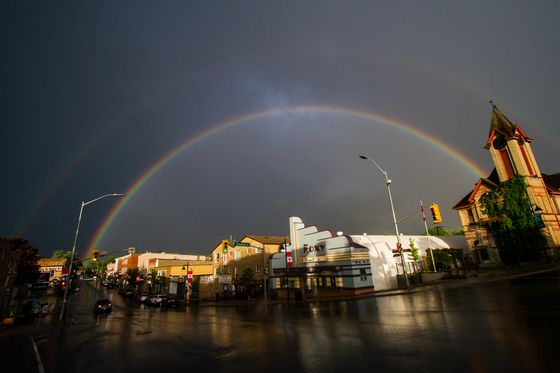 Five photos: Double rainbow dazzles after thunderstorms - The Weather Network