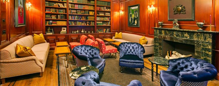A Hidden NYC Mystery Hotel: The bar and lounge have an extensive selection of whisky as well specialty cocktails.