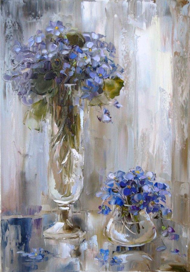 Oksana Kravchenko (b.1971) — Violet Blues, 2010 (629×900)