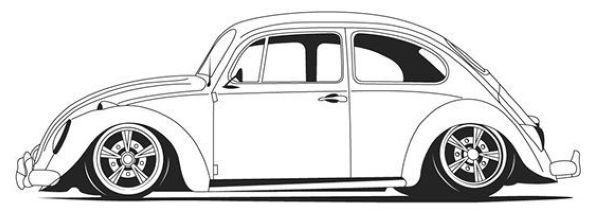 Volkswagen Beetle Car Coloring Page Printable In 2020 Volkswagen
