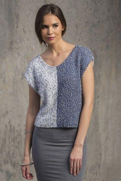 Filatura di Crosa Solare Giotto Top Knitting Pattern PDF