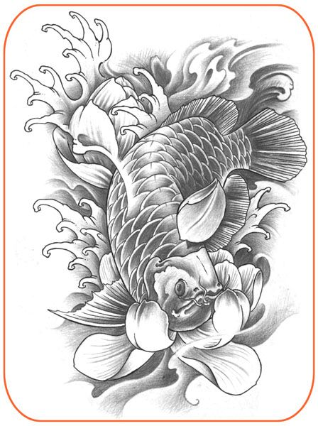 Best 25 tattoo stencils ideas on pinterest rose outline for Koi fish stencil