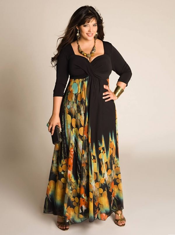 Plus size ed hardy maxi dress