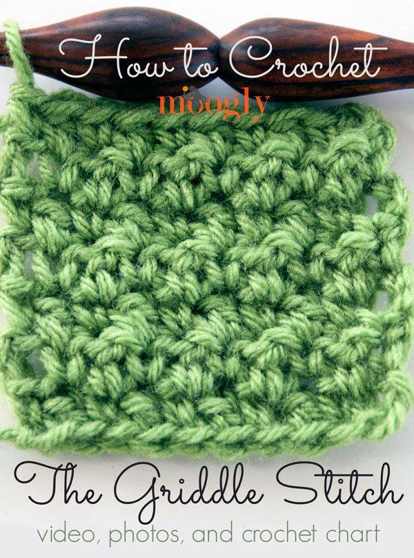 Learn Crochet Tutorials : How to Crochet: The Griddle Stitch - free crochet pattern ...