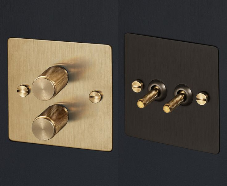 "In a time when everything is about ""swipe"" and ""tap"", there's something refreshing about the tactile heft and texture of real dials and switches. You could say these Buster & Punch light switches are a totally sophisticated ""turn on""."