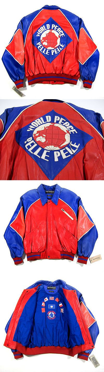 Outerwear 155195: Early 90S Vtg Pelle Pelle Leather World Peace Jacket Og Biggie Nas Nyc 80S Rap -> BUY IT NOW ONLY: $499.99 on eBay!