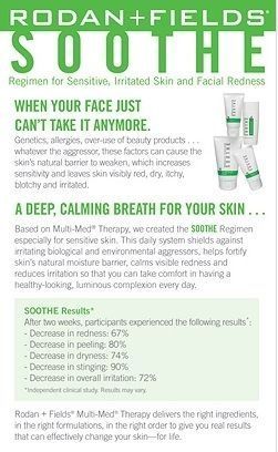 Rodan and Fields Soothe  Available Feb 2/15 from https://janinekennedy.myrandf.com janinekennedy@myrandf.com
