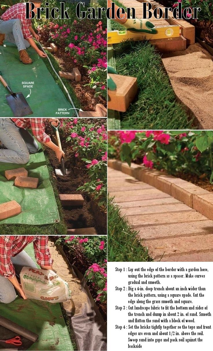 Best 20 brick garden edging ideas on pinterest for How to edge a flower bed