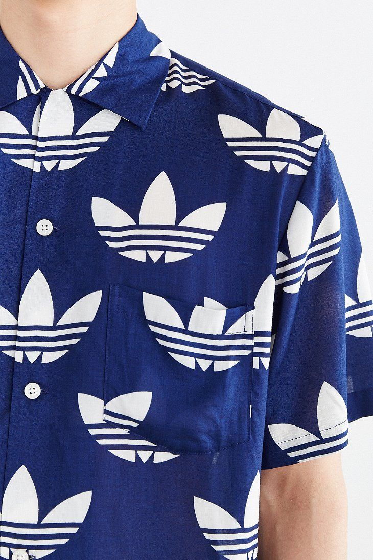adidas Originals X Nigo 25 Aloha Trefoil Button-Down Shirt - Urban Outfitters