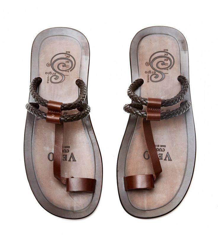 Zaffaella Shoes - Primo Brown Italian Mens Casual Leather Sandals, £90.00