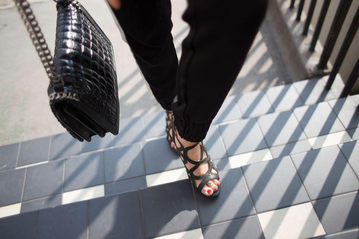 Black heels are essential this season