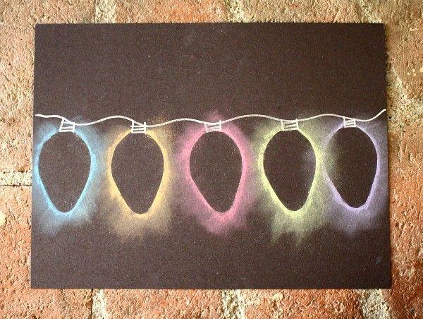 Christmas lights - chalk