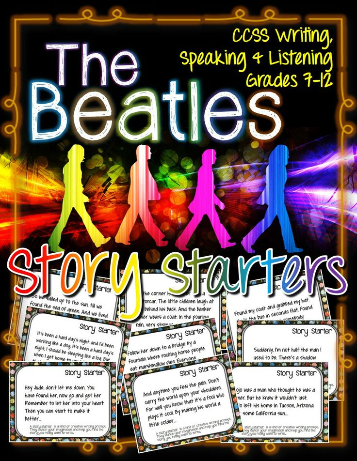 The Beatles, Story Starters and Journal Prompts: ELA Grades 7-12 ($)